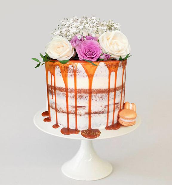 Drip-cake-flores