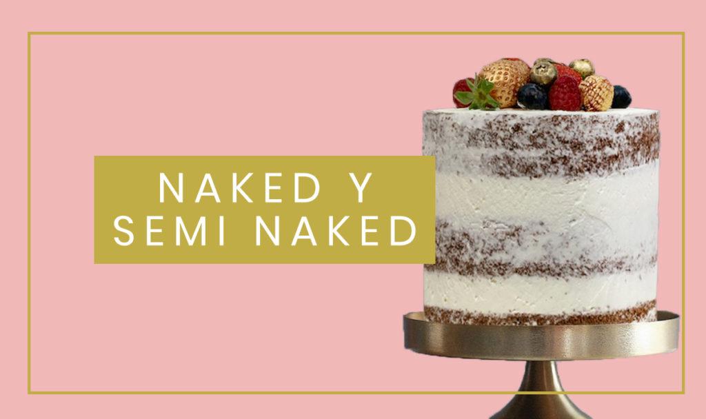 Naked y Semi Naked Cakes