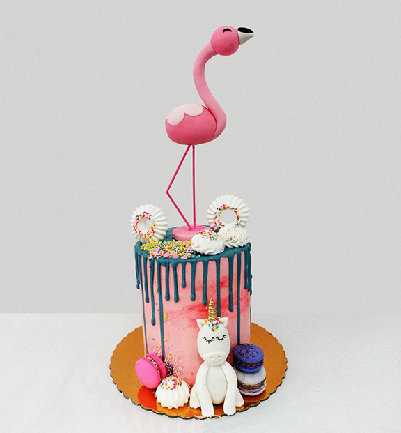 tarta-flamingo